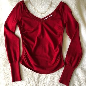 Armani Exchange Red Silk Knit Small